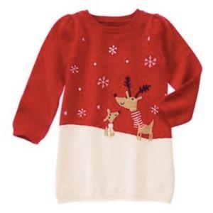 Gymboree Reindeer Friends Knit Sweater Dress